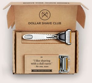 dollar shave subscription box as an example of good ecommerce product ideas