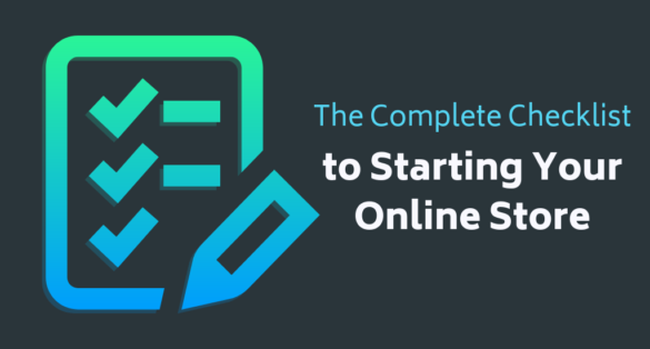 text: the complete checklist to starting online store