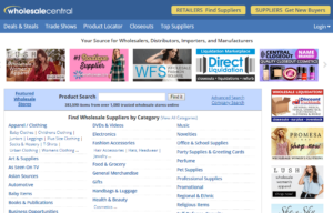 wholesale directories screenshots - wholesalecentral.com
