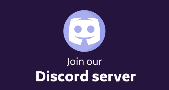 Violet blog post cover with Discord logo and text: join our Discord server