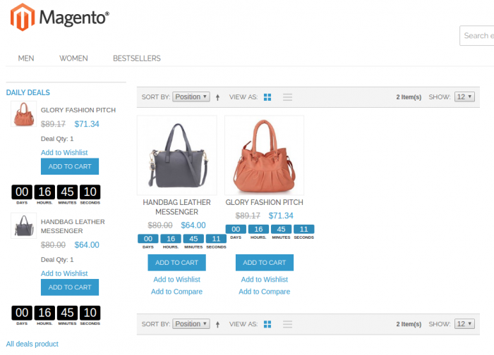 daily deals magento extension screenshot