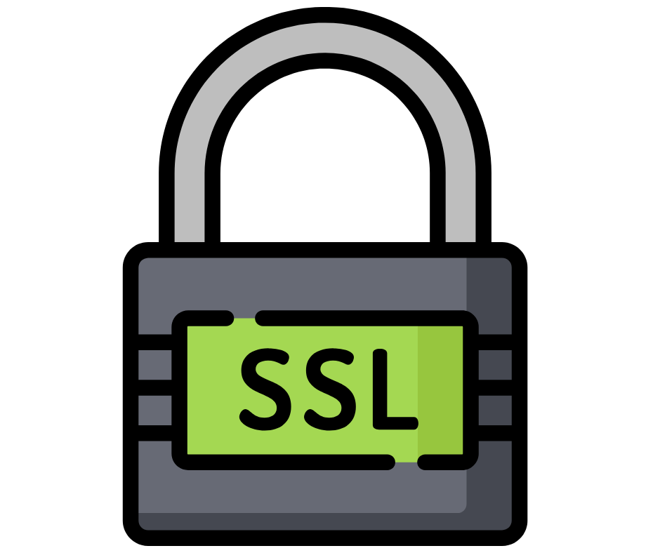 padlock with SSL text
